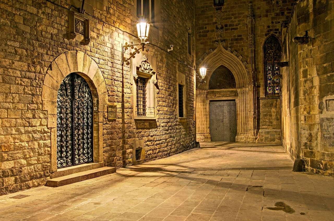 Dzielnica Gotcyka w Barcelonie (Hiszpania) - Środkowy punkt starego miasta w Barcelonie to tzw. Dzielnica Gotycka – Barrio Gotico. Zabudowa pochodzi już z czasów rzymskich, kiedy Barcelona była już znaczącym ośrodkiem na mapie Europy. G (10×7)