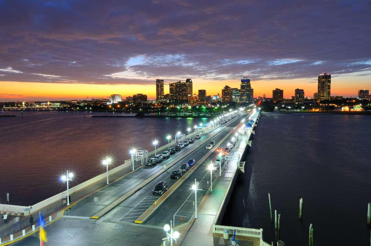 Panorama Saint Petersburga (USA) - Co nietrudno odgadnąć, nazwa miasta Saint Petersburg w Stanie Floryda w USA wzięła się od nazwa jednego z największych miast Rosji – Sankt Petersburga (dzisiaj są to także miasta partnerskie (12×6)