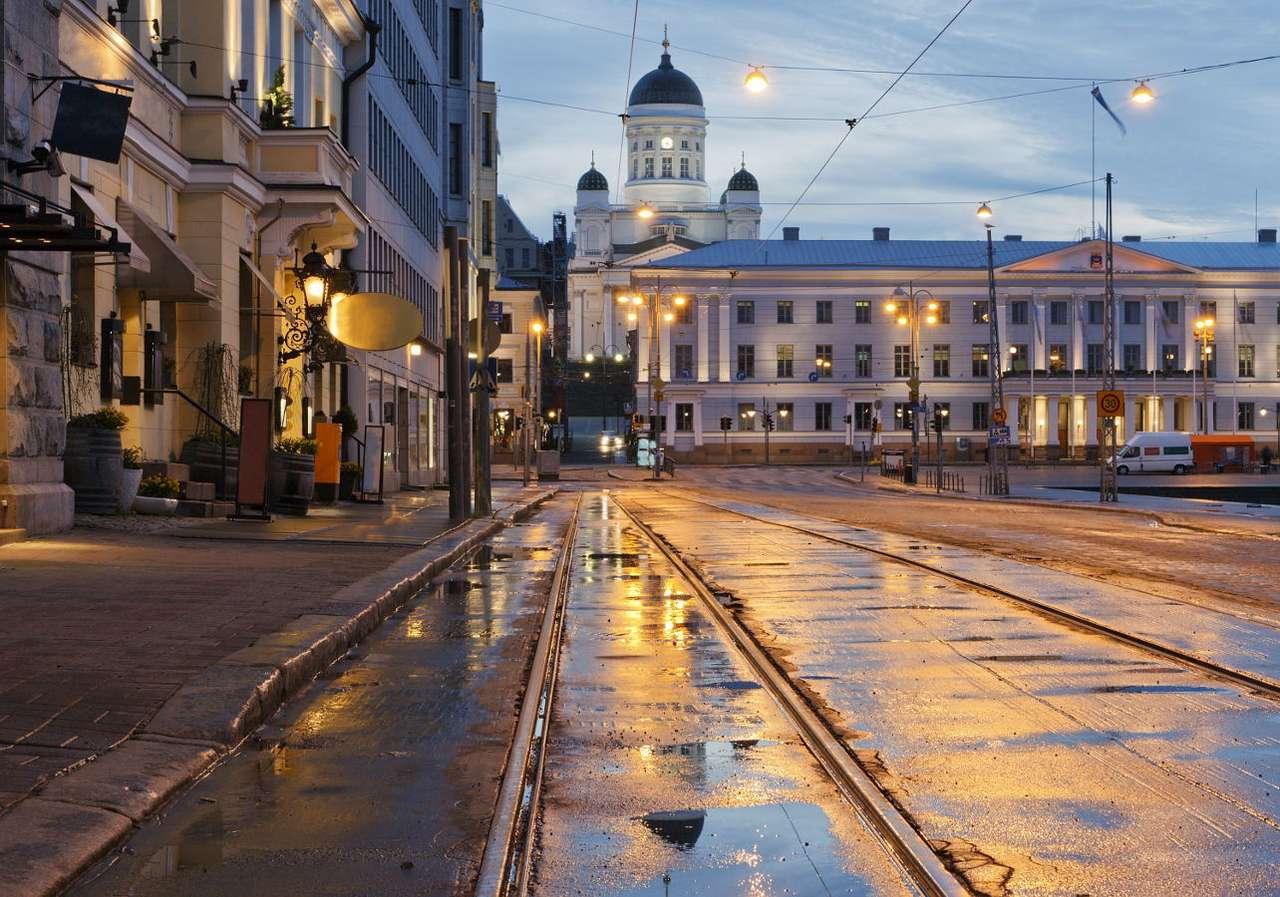 Luterańska katedra w centrum Helsinek (Finlandia) puzzle ze zdjęcia