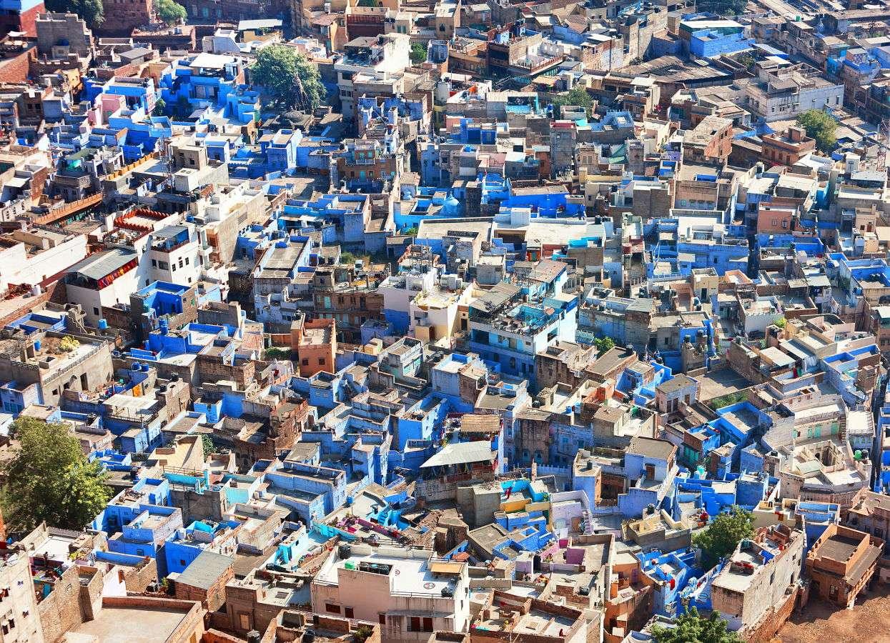 Widok  miasta Dźodhpur (Indie)