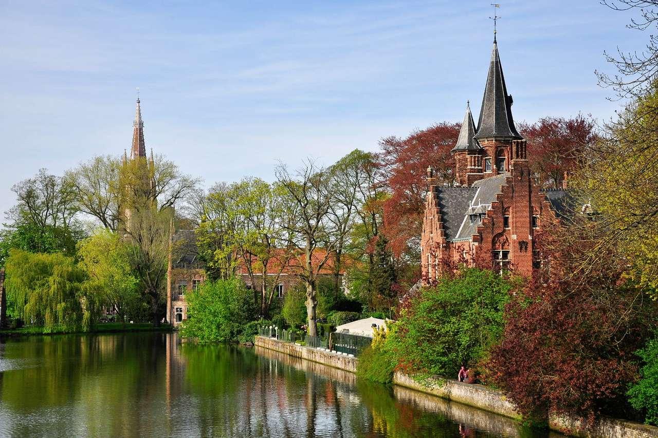 Widok Brugii (Belgia)
