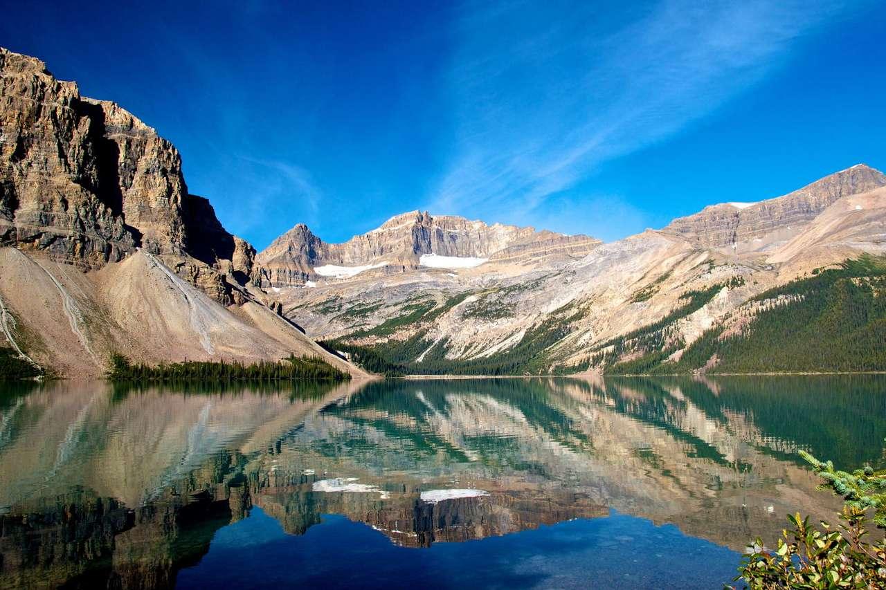 Jezioro Bow Lake w Górach Skalistych (Kanada) -  (9×6)