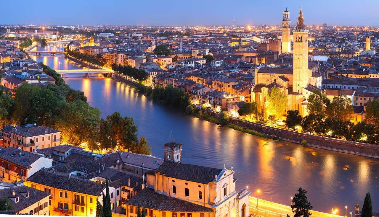 Wieczór w Weronie (Włochy) puzzle