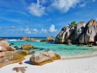 Piękna plaża (Seszele) puzzle