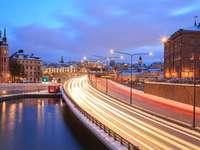 Droga do Gamla Stan w Sztokholmie (Szwecja)