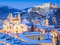 Salzburg zimą (Austria)