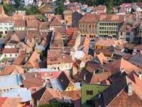 Miasto Sighișoara w Transylwanii (Rumunia)