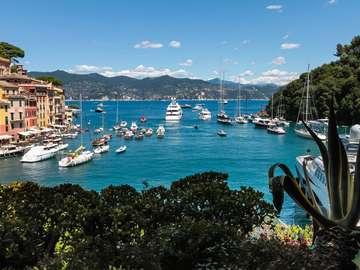 Port w Portofino (Włochy)