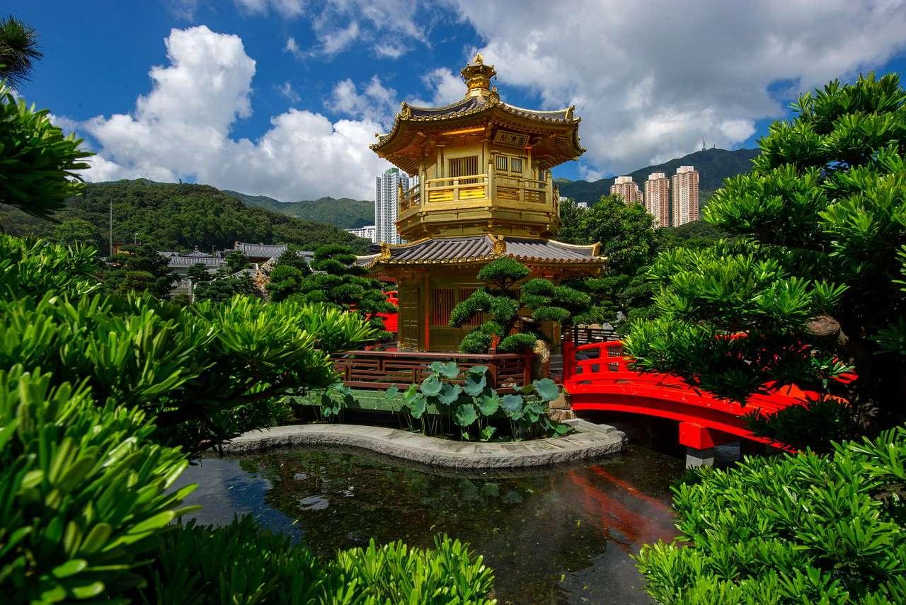 Ogród Nan Lian w Hong Kongu (Chiny) puzzle ze zdjęcia