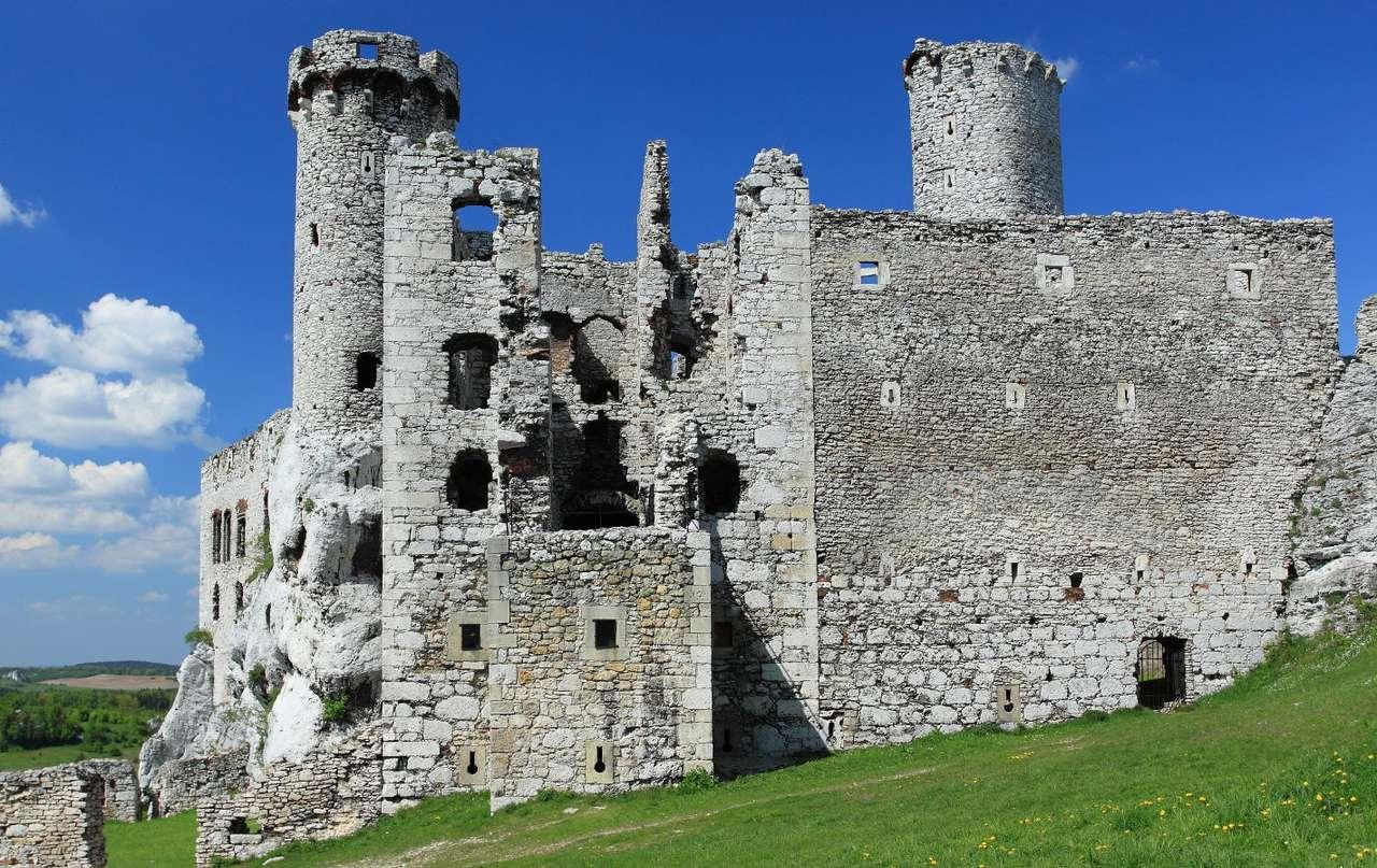 Ruiny zamku Ogrodzieniec - Pierwsze fortyfikacje stanęły w miejscu zamku Ogrodzieniec już w XII w., jednak bryła, którą podziwiają dziś turyści jest wynikiem prac remontowych ufundowanych w XVII w. przez kasztelana kra (9×8)