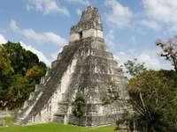 Ruiny w mieście Majów, Tikal (Gwatemala)