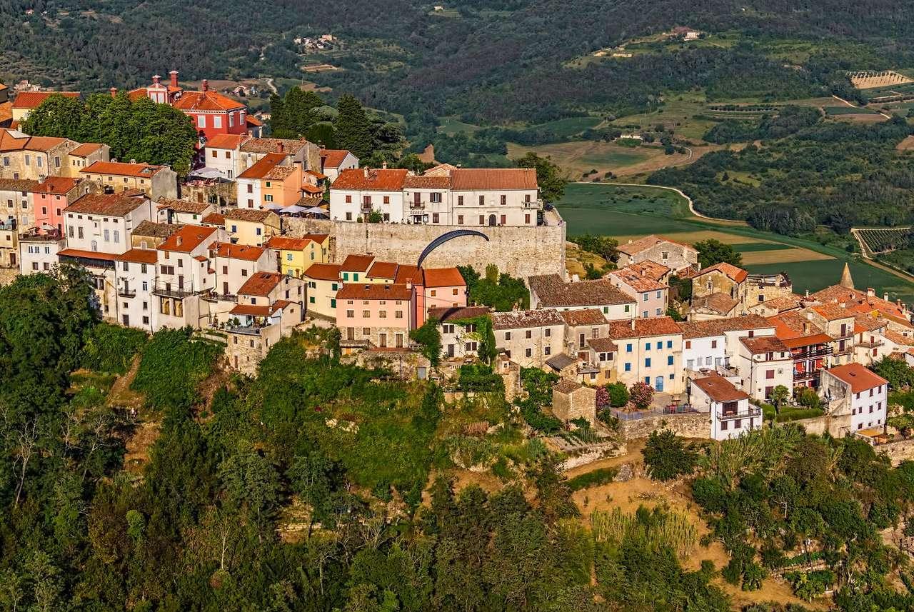 Panorama wioski Motovun (Chorwacja)