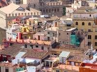 Widok na starówkę Walencji (Hiszpania)
