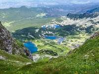 Widok na Halę Gąsienicową w Tatrach