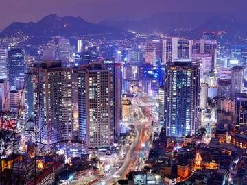 Dzielnica Gangnam w Seulu (Korea Południowa)