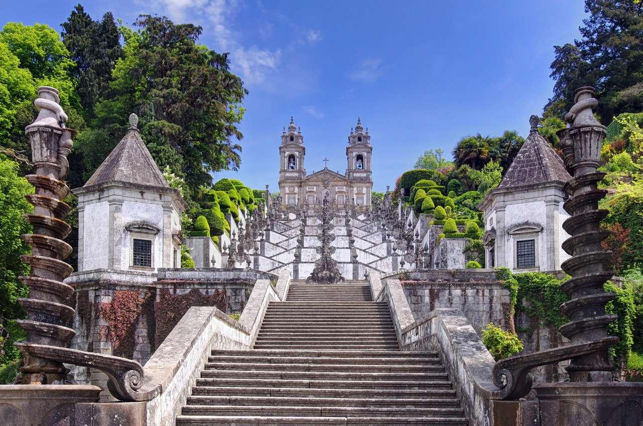 Schody do kościoła Bom Jesus do Monte w Bradze (Portugalia)