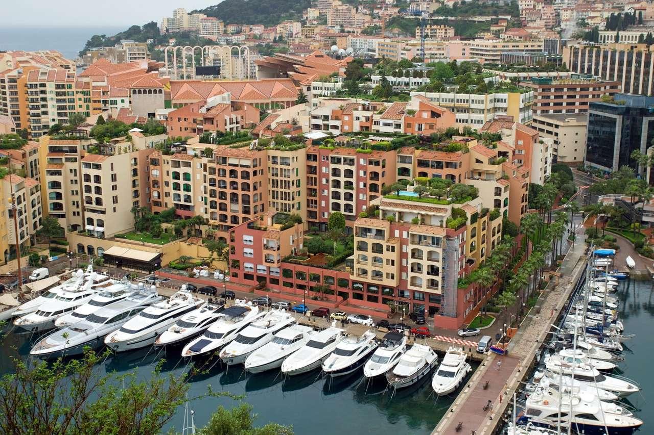 Port w Fontvieille (Monako) puzzle ze zdjęcia