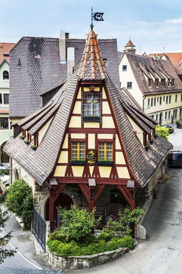 Stara kuźnia w Rothenburgu on der Tauber (Niemcy) puzzle