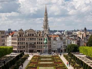 Dzielnica Mont des Arts w Brukseli (Belgia)