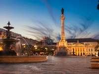 Plac Rossio w Lizbonie (Portugalia)