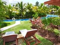 Ogród w kurorcie na Karaibach