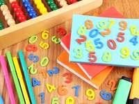 Przybory do nauki liczenia puzzle