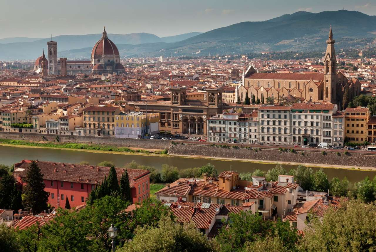 Panorama Florencji z widokiem na katedrę (Włochy) -  (11×6)