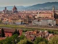 Panorama Florencji z widokiem na katedrę (Włochy)
