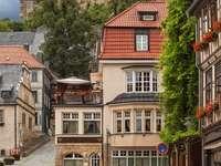 Brukowana ulica w Blankenburgu (Niemcy)