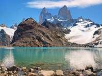 Górski szczyt Fitz Roy (Argentyna)