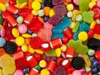 Mieszanka kolorowych cukierków