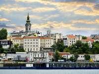 Widok na Belgrad od strony Dunaju (Serbia)