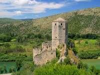 Wieża fortu w Počitelj (Bośnia i Hercegowina) puzzle