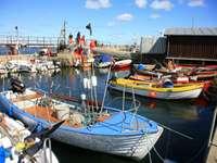 Łódki na Bornholmie (Dania)