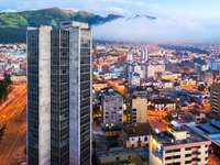 Quito z lotu ptaka (Ekwador)