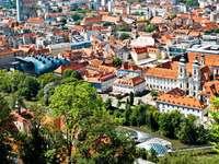Widok na miasto Graz (Austria)