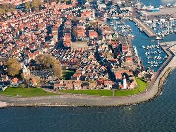 Widok na miasteczko Urk (Holandia)