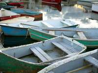 Drewniane łodzie w Rockport (USA)