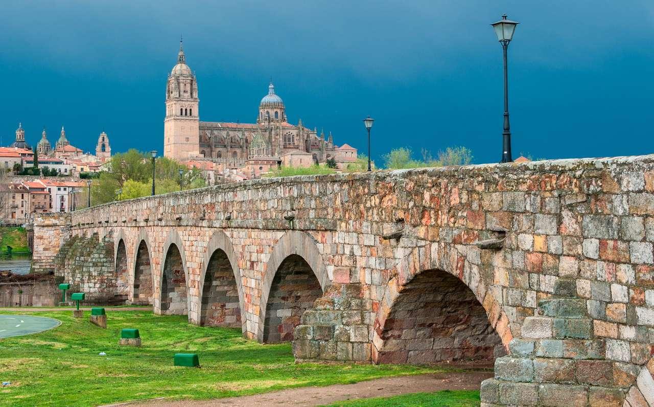 Most Rzymski w Salamance (Hiszpania) - Salamanka to miasto położone we wschodniej części kraju nad rzeką Tormes. Miasto ma bardzo długą historię, sięgającą jeszcze czasów przedrzymskich, kiedy Celtowie założyli na jego miejsc (8×5)