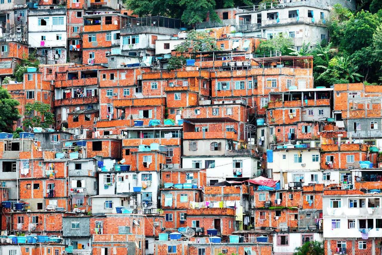 Fawele w Rio de Janeiro (Brazylia)