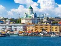 Panorama Helsinek z katedrą (Finlandia)