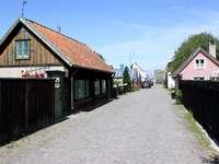 Drewniane płoty w Visby (Szwecja)