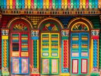 Kolorowy dom w Little India (Singapur)