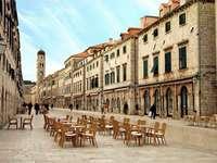 Stradun – główna ulica Dubrownika (Chorwacja)