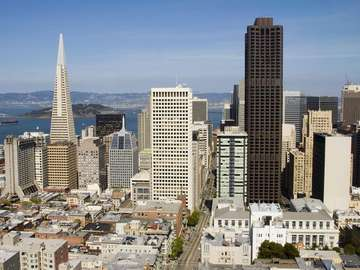 Drapacze chmur w San Francisco (USA)