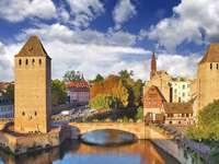 Kanały w Strasburgu (Francja)