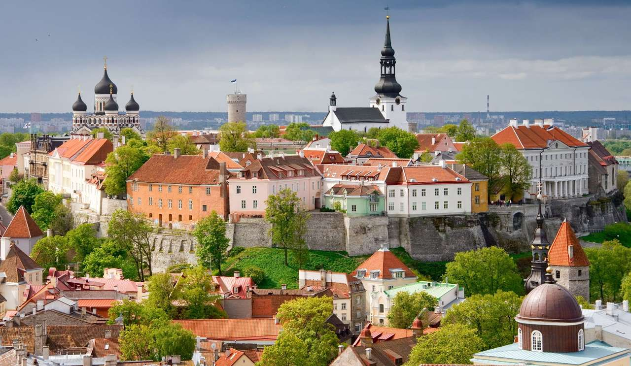 Wzgórze katedralne Toompea w Tallinie (Estonia)