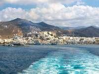 Panorama miasta Naksos na Cykladach (Grecja)
