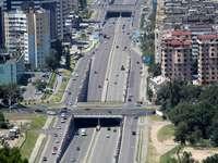 Droga w mieście Ałmaty (Kazachstan)