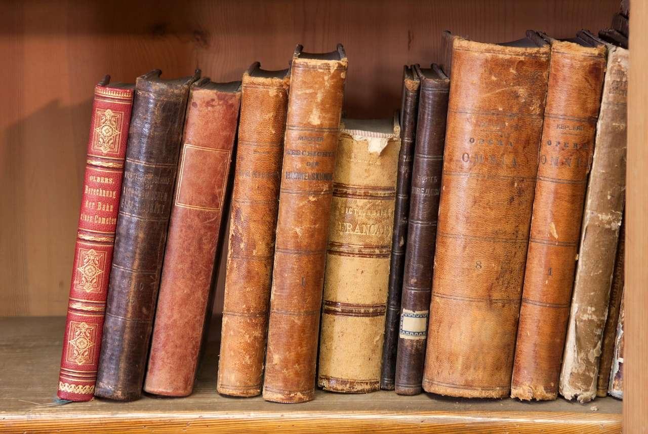 Stare książki - Historia książki liczy kilka tysięcy lat. Dawniej teksty literackie spisywano na papirusowych zwojach, które stopniowo zaczął wypierać trwalszy pergamin, materiał wyrabiany ze zwierzęcej skó (14×9)